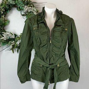 White House Black Market military inspired blazer